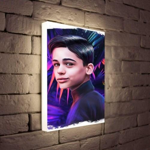 Светильник с портретом по вашему фото Dark fashion