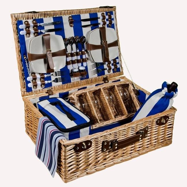 Набор для пикника в корзине на 4 персоны «Летний бриз»