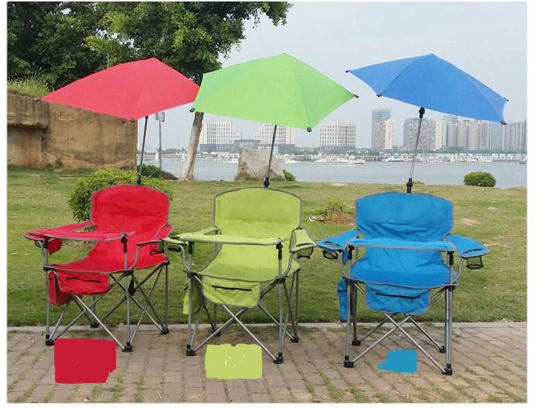 Складное кресло с зонтом и столиком