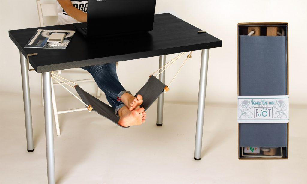 Гамак для ног под рабочий стол с USB подогревом
