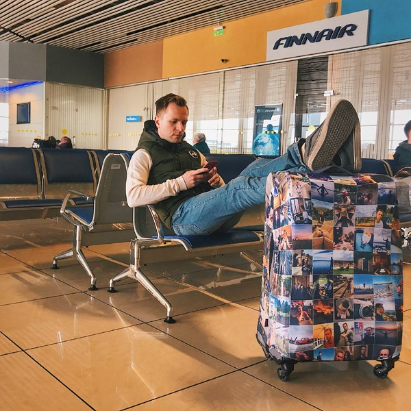 Чехол для чемодана с вашим фото