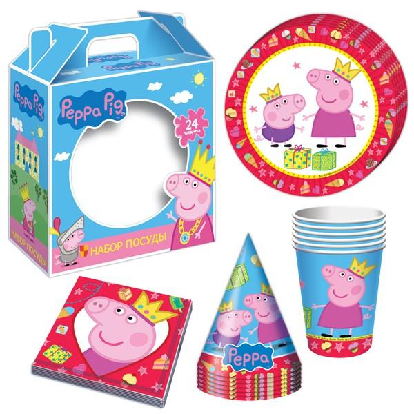 Подарочный набор посуды «Пеппа-принцесса», Peppa Pig